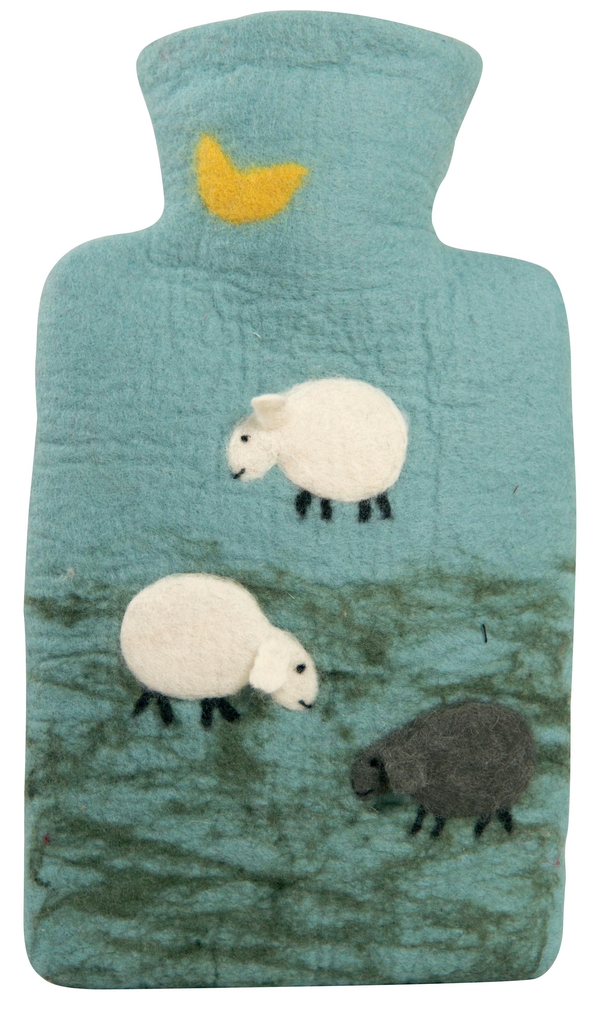HUGO-FROSCH Termofor Classic s plstěným obalem ze 100 % ovčí vlny merino