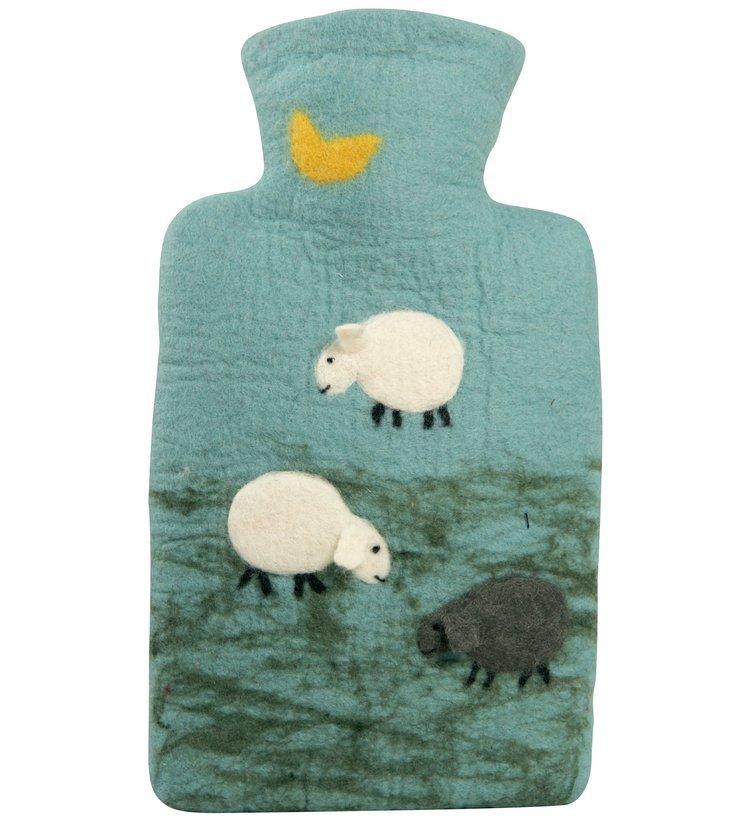 e5fe6460d37 Termofor Hugo Frosch Classic s plstěným obalem ze 100 % ovčí vlny merino –  ovečky